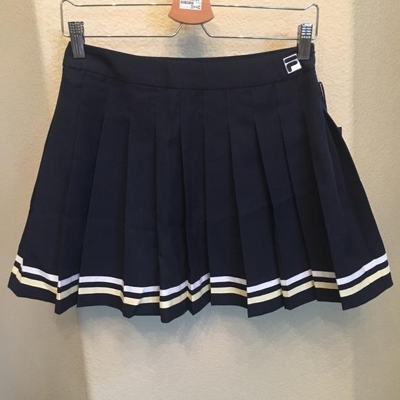 NWT~FILA Navy Palma Pleated Tennis Skirt Size Sml NWT
